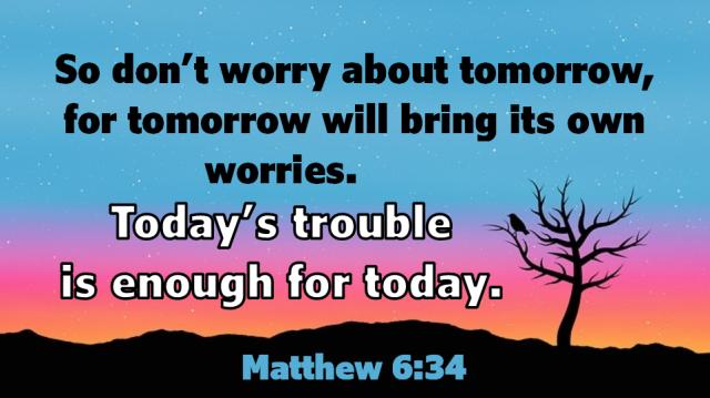 Matthew 6 34