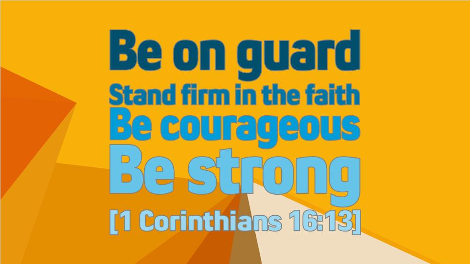 1 Corinthians 16 13